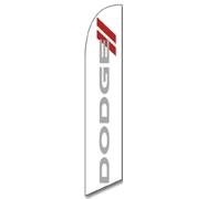Swooper Flag - Dodge white